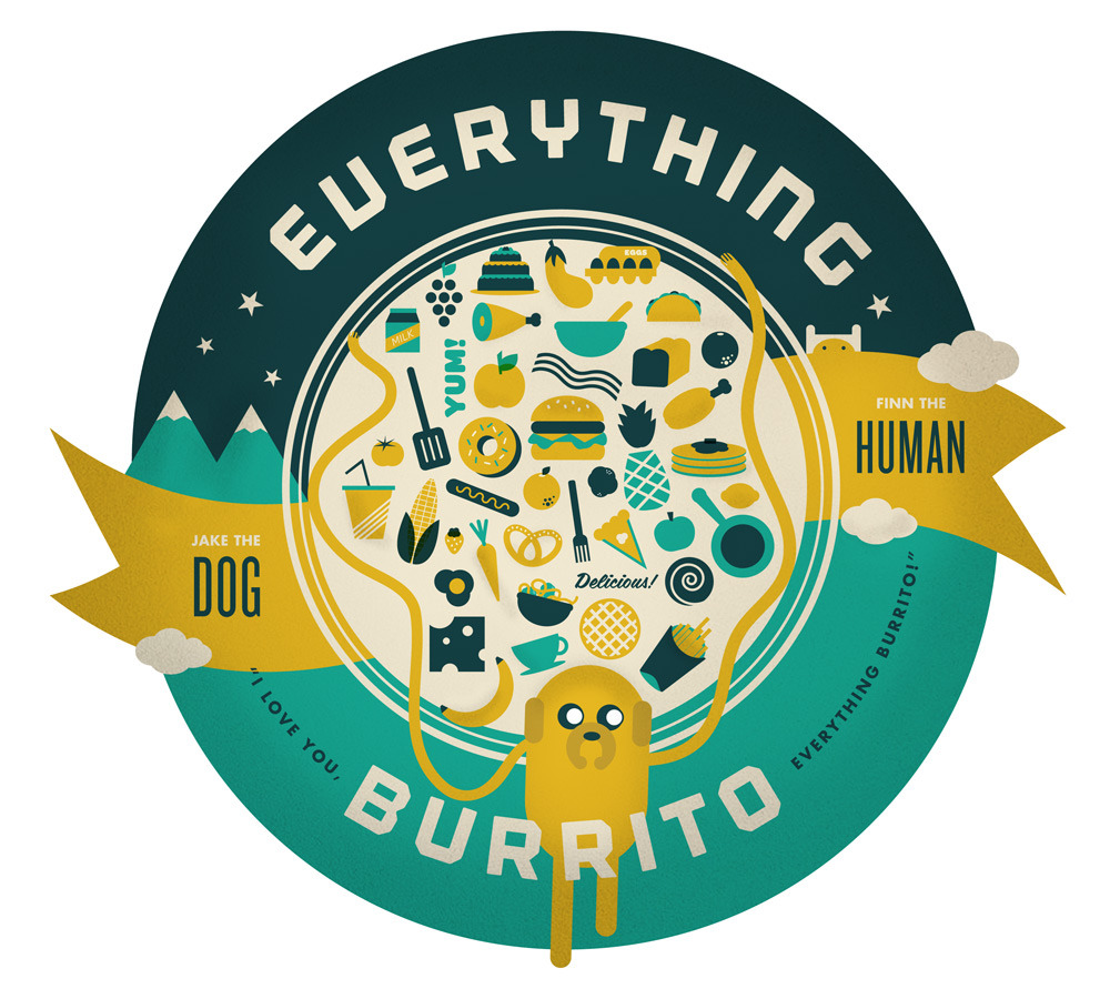 inyouratmosphere:   EVERYTHING BURRITO - My FakeAnything homage to Adventure Time