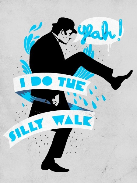emilys-explorations:  Do the silly walk.