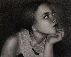 "ninakleinart:  ""Nancy"" Charcoal portrait drawing (by ninakleinart)"