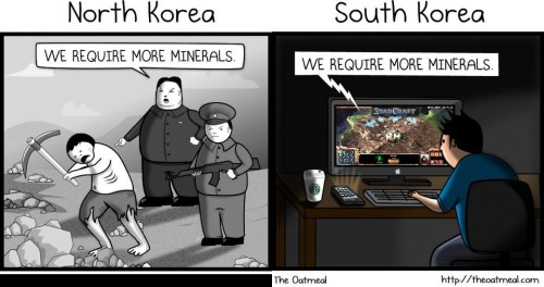 peterpayne:   	North and South Korea, explained.