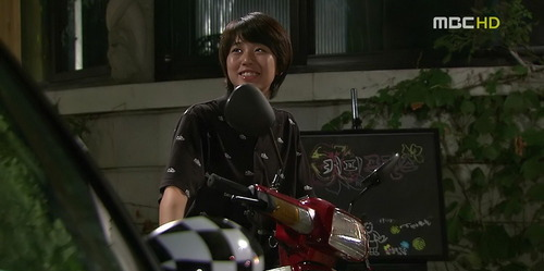 Eun Chan and her trusty scooter.