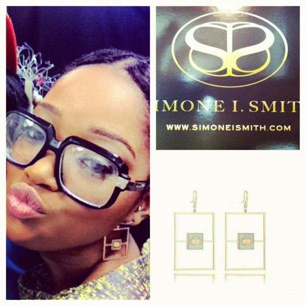 "Catch @kekepalmer in @simoneismith ""Divine Harmony"" earrings in the next issue of @jadoremag! (Taken with instagram)"