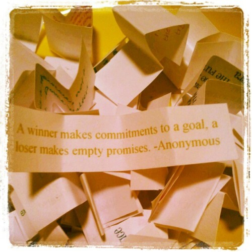 """A winner makes commitments to a goal, a loser makes empty promises."" -Anonymous #diet #health #fitness #weightloss #60days #day13of60 (Taken with instagram)"