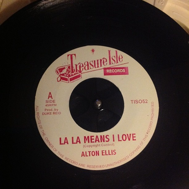 Treasure Isle repress with the Melodians Passion Love on the flip (Taken with instagram)