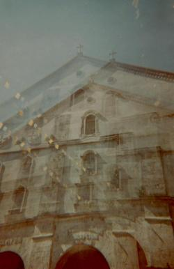 Baclayon Church in multiplicity. Benesse toy camera by Melancholik