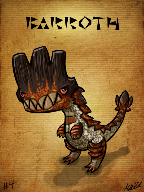 #4 - Barroth Monster Hunter Sketch Diary