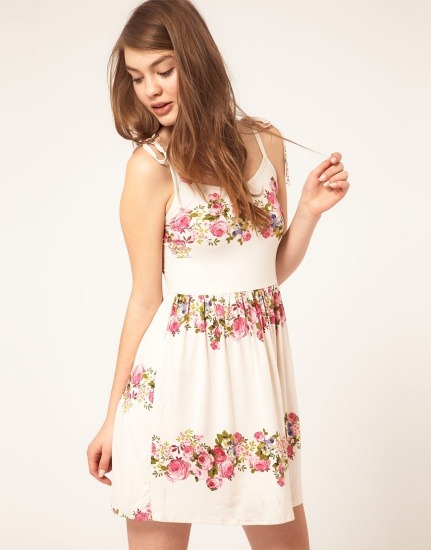 ASOS summer dress in rose print
