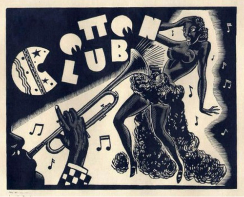 mudwerks:  (via Pulp International - 1929 woodcut print for the Cotton Club)