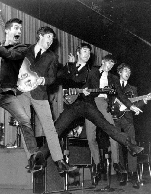 Once again, Jumping Alex leaps with best buds, The Beatles