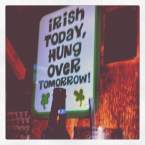 True that #irish #hungover #alcohol #green #shamrocks #bar #truthis (Taken with instagram)