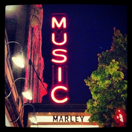 marley film at the music box  (Taken with instagram)