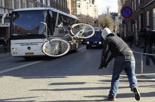 Throwing your bike is always poor form. Throwing someone else's bicycle on the other hand…