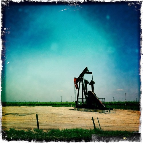 Oil well in Central California