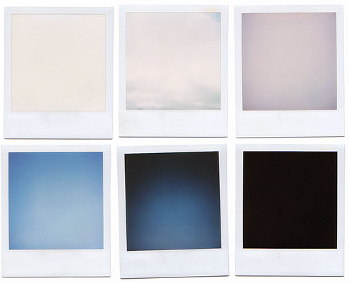 Series of blank polaroids (by Tim Frank Schmitt)