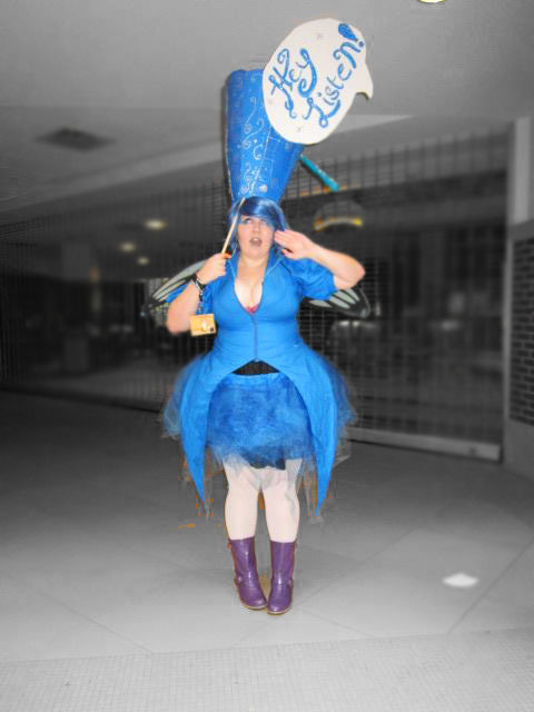 Me at toracon as Navi! rabidauthor.tumblr.com