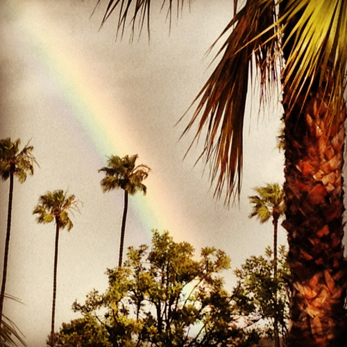 """Somewhere over the rainbow, way up high, there's a place that I've heard of once in a lullaby.."""