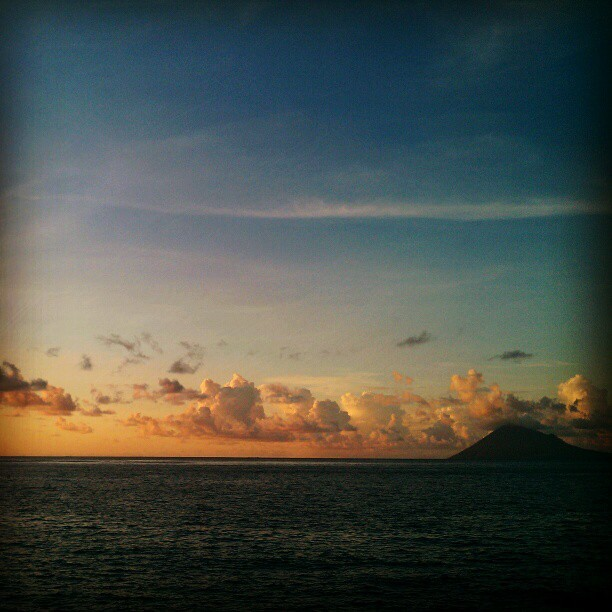 It will always be my favorite spot, Manado bay. #instagram #instadaily #instadroid #photooftheday #travel #indonesia #manado #sunset  (Taken with instagram)