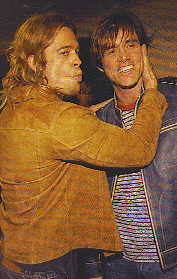 Jim Carrey and Brad Pitt
