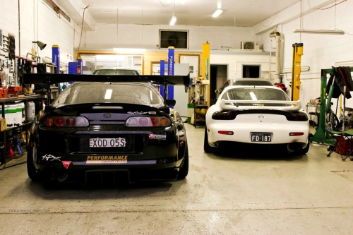 typicalbeast:  such a cute couple… love the supra spoiler! via Stance Nation