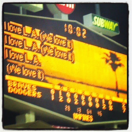 Damn straight we love LA! (Taken with Instagram at Dodger Stadium)