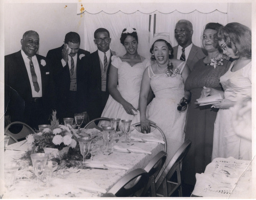 The Wedding Party Jamison, PA, 1950's [Black Bride Series] ©WaheedPhotoArchive, 2012