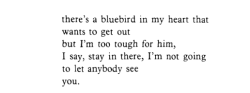 "Charles Bukowski, ""The Bluebird"""