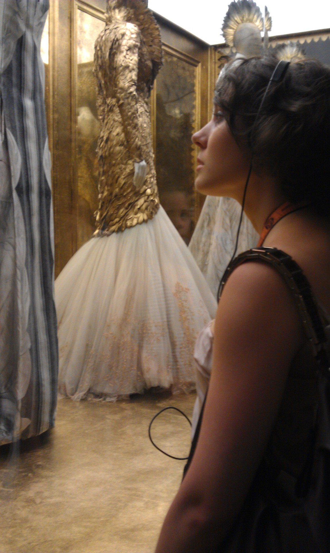 Alexander McQueen- Savage Beauty at the MET, and my lovely friend Helen.