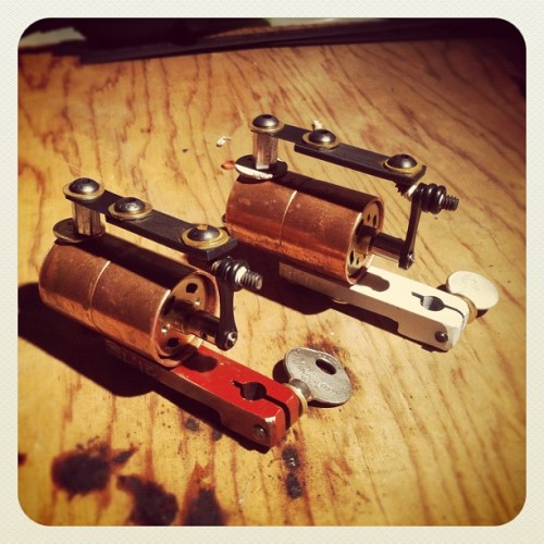 Two more. Whips for days. #tattoos #tattoomachine #roundandround (Taken with Instagram at Ratt)