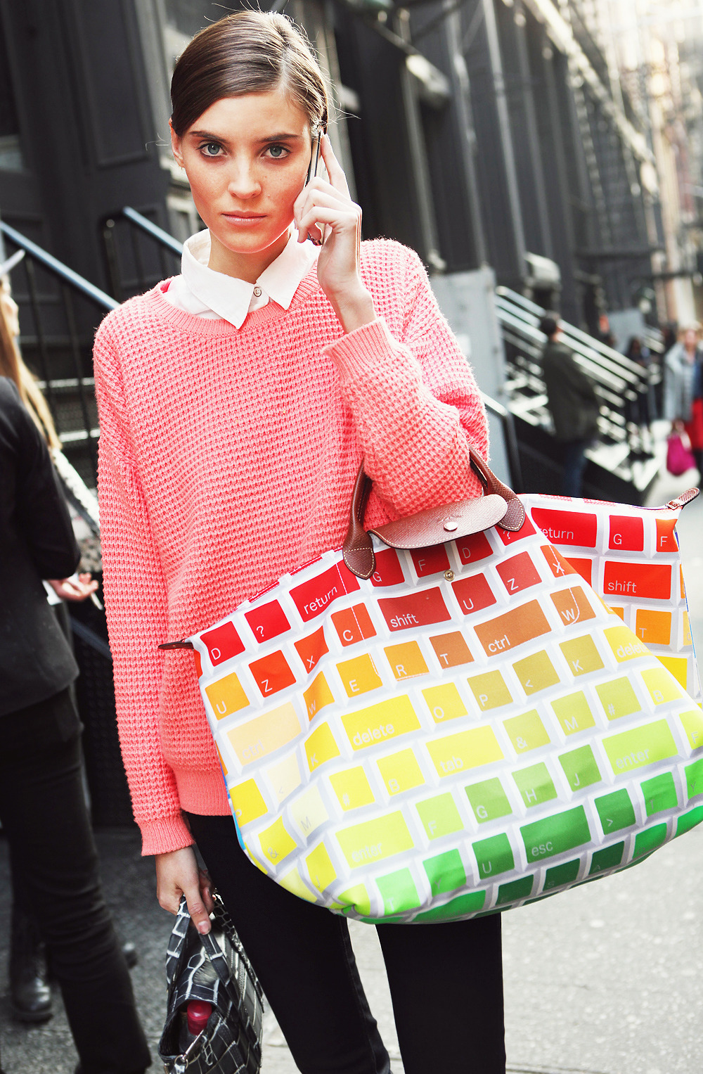» Jeremy Scott for Longchamp KEYBOARD tote