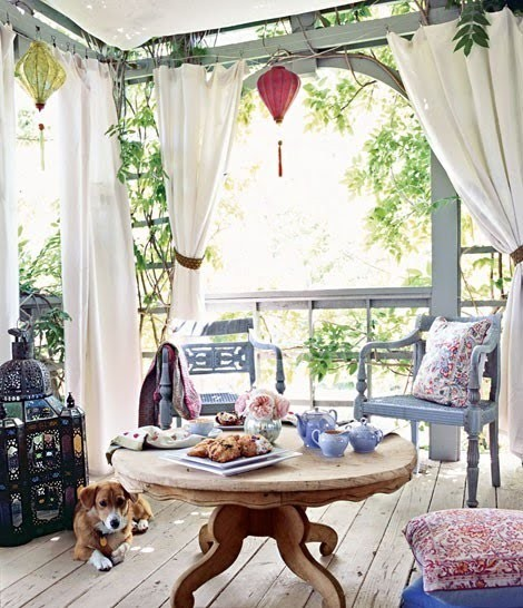 eclectic spring porch, from rustic to bohemian