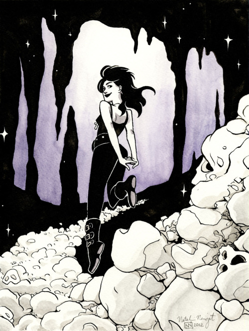 tally-art:  Death from Neil Gaiman's Sandman!  Line art available on my blog.
