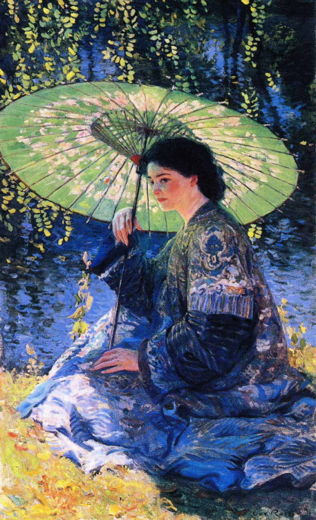 The Green Parasol (1911) by Guy Rose (1867-1925)