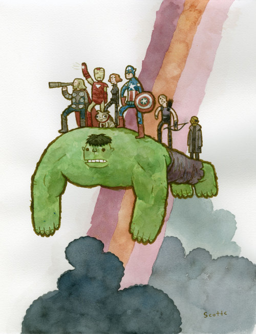 The Avengers | I'm not sure why Hulk is flying, but it's pretty cool