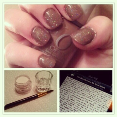 My night… #nailpolish #nails #orly #chinaglaze #brown #explosionsinthesky #music (Taken with instagram)