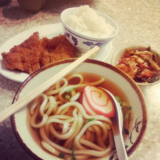 Udon Set @ Sanoya! (Taken with instagram)