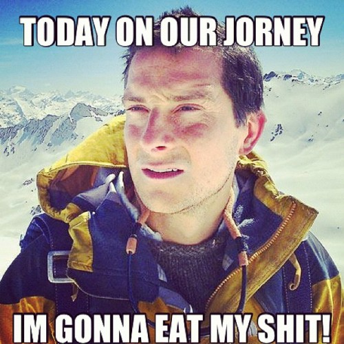 Lmao! I can't stop making these! #lol #meme #bear #grylls #shit #poop (Taken with instagram)