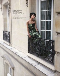 Zhang YiFan in Armani Prive Haute Couture by Anouk Scheneider for Elle Taiwan March 2012