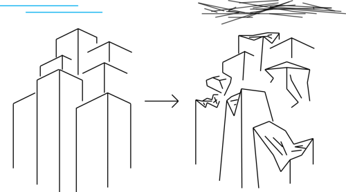 My character will exist within a city like environment with tall buildings that are quite simple and clean. The change in the story leads to the destruction of many buildings and by changing the overhead conditions from clear skies to smokey or cloudy the lighting can also change to set the mood of the story at the time.