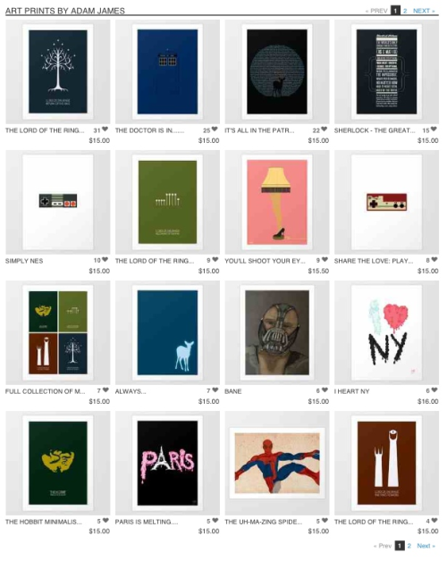 FREE SHIPPING ON ALL THE STUFF IN MY SOCIETY6!   http://society6.com/adamjames