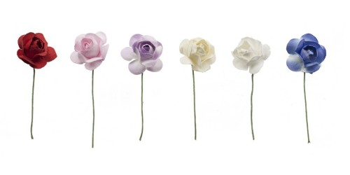 New lavender and ivory lapel flowers, $10.