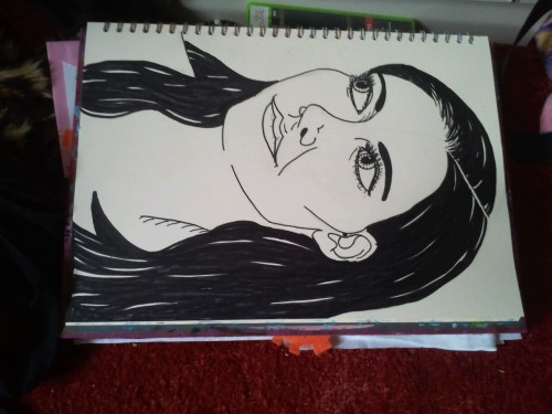 I drew the prettiest girl i know… My sister. Boom yeah
