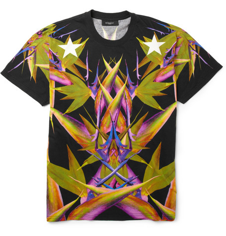 billidollarbaby:  Givenchy Paradise-Print Cotton-Jersey T-Shirt in Black ($600)