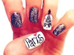French-girl Nail Art - Love It So Much on We Heart It. http://weheartit.com/entry/27333983
