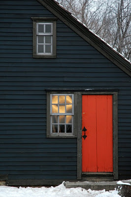 moodsofthemoon:  orange door