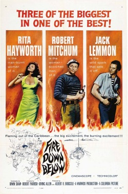 Movies I've Seen in 2012 93.  Fire Down Below (1957) Starring:  Jack Lemmon, Rita Hayworth, Robert Mitchum  Director:  Robert Parrish Rating:  ★★★/5