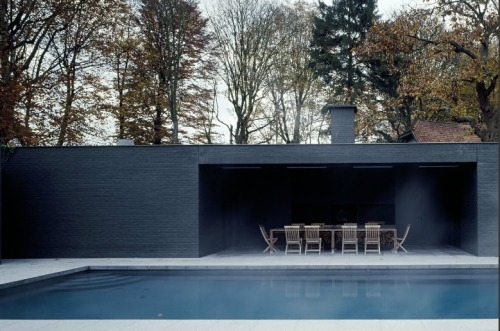 PI poolhouse in Kortrijk, Belgium by Vincent Van Duysen Architects.