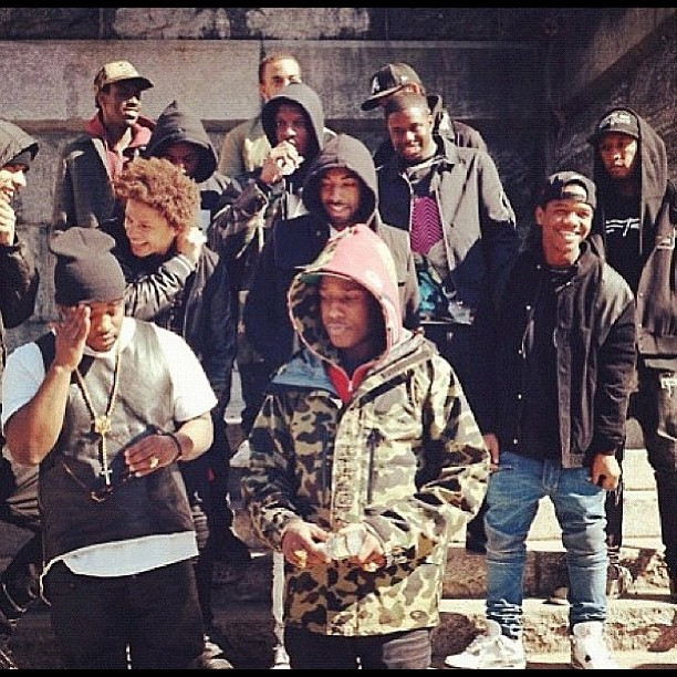 asvpxlife:  THE FAMILIA . on set #goldie  Cant wait for this Goldie video A$VP