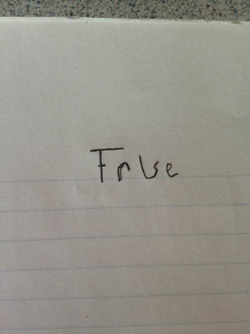 lampsarepeopletoo:  thats just ambiguous enough to write on every true/false question