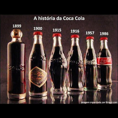 Coca-Cola bottle history. #Coke #Bottle #Drink #Refreshing #100Years #CocaCola (Taken with instagram)