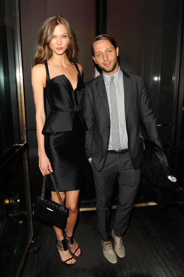 "Karlie Kloss Karlie Kloss (pictured with Derek Blasberg) wore Cushnie et Ochs at the Cartier & Aldo Cipullo ""New York City in the '70s"" exhibition preview at Cartier in New York."